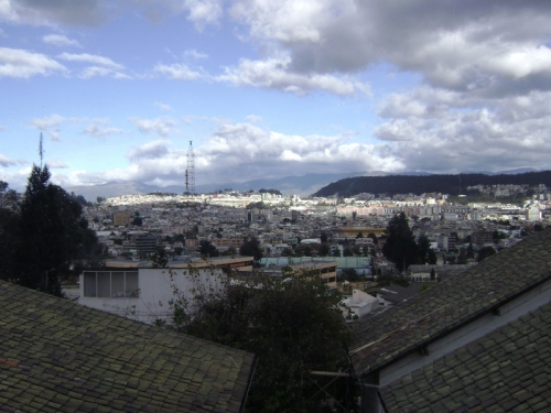 View of Quito from our flat